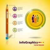 Malplaatje voor infographic zaken Royalty-vrije Stock Afbeelding