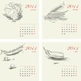 Malplaatje voor kalender 2011 Royalty-vrije Stock Foto