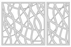 Malplaatje voor knipsel Abstract lijnpatroon Laserbesnoeiing Vastgestelde rati vector illustratie