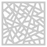 Malplaatje voor knipsel Abstract lijnpatroon Laserbesnoeiing Verhouding 1:1 Royalty-vrije Stock Fotografie