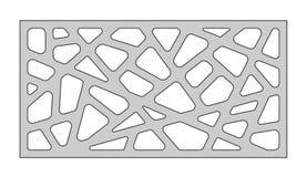 Malplaatje voor knipsel Abstract lijnpatroon Laserbesnoeiing Verhouding 1:2 Vector illustratie Royalty-vrije Stock Fotografie
