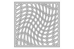 Malplaatje voor knipsel Cirkel spiraalvormig patroon Laserbesnoeiing Verhouding 1:1 Stock Fotografie