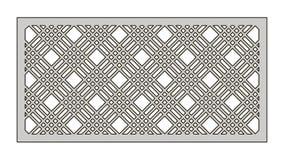 Malplaatje voor knipsel Geometrisch lijnenpatroon Laserbesnoeiing Verhouding 1:2 Royalty-vrije Stock Afbeelding