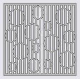 Malplaatje voor knipsel Het patroon van de cirkellijn Laserbesnoeiing Verhouding 1:1 Royalty-vrije Stock Afbeelding