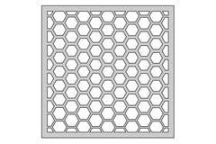 Malplaatje voor knipsel Het patroon van het pentagoonnet Laserbesnoeiing Verhouding 1:1 Royalty-vrije Stock Afbeeldingen