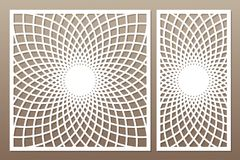 Malplaatje voor knipsel Mandala, Arabesque-patroon Laserbesnoeiing reeks stock illustratie