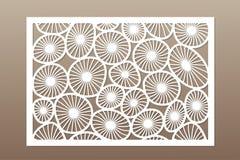 Malplaatje voor knipsel Rond kunstpatroon Laserbesnoeiing Vastgestelde verhouding 2:3 Vector illustratie Stock Fotografie