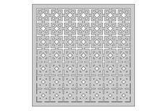 Malplaatje voor knipsel Vierkant herhaal patroon Laserbesnoeiing Verhouding 1:1 Stock Foto