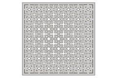 Malplaatje voor knipsel Vierkant herhaal patroon Laserbesnoeiing Verhouding 1:1 Royalty-vrije Stock Afbeeldingen