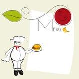 Malplaatje voor menu Royalty-vrije Stock Afbeeldingen