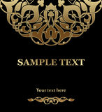 Malplaatje voor uitnodigingskaart Stock Afbeelding