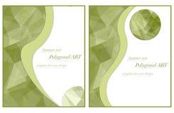 Malplaatje voor uw ontwerp in groene kleuren Royalty-vrije Stock Afbeelding