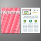 Malplaatje voor vlieger of boekje bij online het winkelen Stock Foto