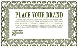 Malplaatje voor zaken, envelop, uitnodigingen en groetkaarten Royalty-vrije Stock Afbeeldingen