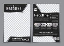 Malplaatje zwarte A4 brochure met chroomelementen Royalty-vrije Stock Afbeeldingen