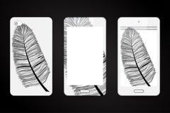 Malplaatjeachtergrond en dekking voor smartphone Stock Foto's