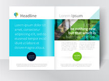 Malplaatjebrochure, pamflet, uitgespreid tijdschrift voorraad-vector Stock Illustratie