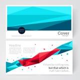 Malplaatjebrochure, pamflet, uitgespreid tijdschrift voorraad-vector Abstract geometrisch achtergronddriehoekselement Vector Illustratie
