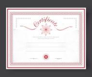 Malplaatjecertificaten met toe te kennen bloemen en rozet Royalty-vrije Stock Afbeeldingen