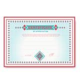 Malplaatjecertificaten in zachte kleuren met Royalty-vrije Stock Afbeelding
