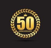 Malplaatjeembleem 50 van de Verjaardags Vectorjaar Illustratie Royalty-vrije Stock Foto's