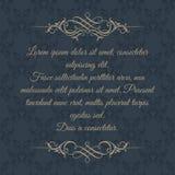 Malplaatjekaarten Kalligrafische grens op donkere achtergrond Royalty-vrije Stock Fotografie
