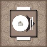 Malplaatjemenu voor restaurant, koffie, bar Stock Afbeelding