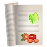 Malplaatjepagina's van een kookboek stock illustratie