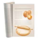 Malplaatjepagina's van een kookboek royalty-vrije illustratie