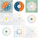 Malplaatjes de bedrijfs van Infographic Stock Afbeeldingen