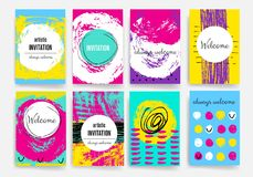 malplaatjes Ontwerpreeks van Web, Post, Brochures Mobiel, Technologie, Infographic-Concept Stock Fotografie