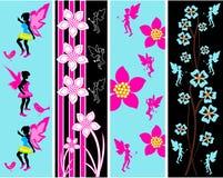 Malplaatjes van de Banner van het Web van de fee de Bloemen stock illustratie