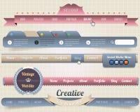 Malplaatjes van de Kopbal & van de Navigatie van de Elementen van het Web de Vector Vector Illustratie