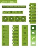 Malplaatjes van groene sidebars Royalty-vrije Stock Fotografie