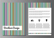 Malplaatjes van het brochure de minnimalistic ontwerp Stock Afbeelding