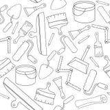 Malplaatjes van het Paperhangings de naadloze ontwerp Moderne gemakkelijk om embleemmalplaatje uit te geven De vectorreeks van he Royalty-vrije Stock Afbeelding