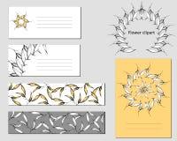 Malplaatjes voor collectieve identiteit met een contour gouden patroon Tekstframe, adreskaartje Natuurlijk ornament voor modern o royalty-vrije illustratie