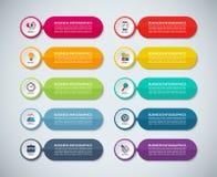 Malplaatjes voor infographics Reeks abstracte kleurrijke banners Stock Foto