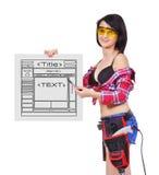 Malplaatjewebsite Stock Foto's