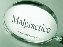 The word Malpractice Stock Photo