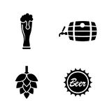 Malt beer. Simple Related Vector Icons Royalty Free Stock Photos