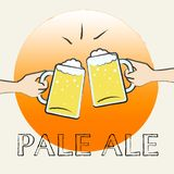 Malt de Pale Ale Shows Light Beer Or illustration stock