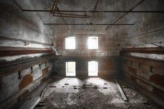 Malt dryer room. An old desolate brewery malt dryer room Stock Images