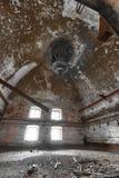 Malt dryer room. An old desolate brewery malt dryer room Royalty Free Stock Photos