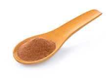 Malt extract in wood spoon. On white background Stock Images