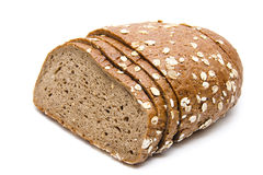 Malt grain bread. Baked and slivered Royalty Free Stock Photography