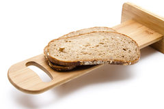 Malt grain bread slice Royalty Free Stock Photos