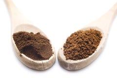 Malt kaffe och ögonblickkaffe royaltyfri foto