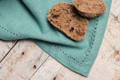 Malt loaf bread. Slices on table Royalty Free Stock Photos