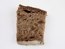Malt rye bread. On white background Stock Image